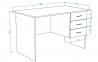 Стол офисный Sanvut СПТ1-1 0